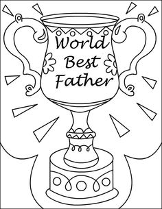 Dad Coloring Page for the BEST Dad | Free printable, Dads and Free