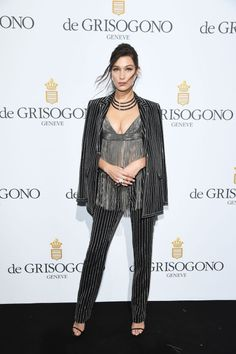 Bella Hadid at the De Grisogono Party during the Cannes Film Festival.