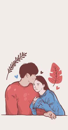 Cute Couple Wallpaper, Cute Pastel Wallpaper, Cute Anime Wallpaper, Cute Cartoon Wallpapers, Animes Wallpapers, Cute Couple Drawings, Cute Couple Art, Anime Couples Drawings, Love Cartoon Couple