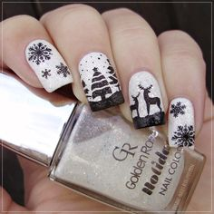 Nailpolis Museum of Nail Art | Winter Wonderland by Sanela