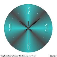 Simplistic Pretty Green > Kitchen Wall Clock