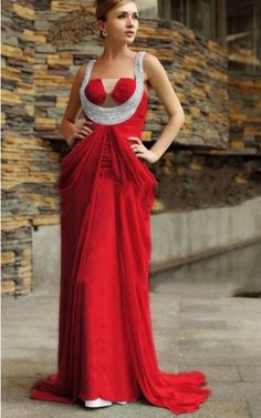 Sleeveless Zipper Chiffon Halter A-line Formal Dresses Red Formal Dresses, Shades Of Red, Hue, White Dress, Chiffon, Elegant, Zipper, Fashion, Online Shopping