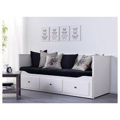 HEMNES,divan Ikea Ektorp Sofa, Ikea Hemnes Daybed, Hemnes Day Bed, Bed Sets, Cama Murphy Ikea, Murphy-bett Ikea, Bedroom Furniture, Bedroom Decor, Bedding Decor