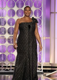 Queen Latifah no Globo de Ouro de 2012.