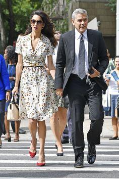 110 Amal Clooney's Most Stylish Fashion Style You Should Know Amal Clooney, George Clooney, Amal Alamuddin Style, Looks Pinterest, Flowery Dresses, Pregnancy Looks, Fashion Designer, Red Carpet Dresses, Work Wardrobe