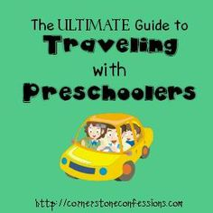 The Ultimate Guide to Traveling with Preschoolers--everything from a list of favorite printables found across the web to what to pack to games to play.  It's all here.  Amazing resource.