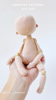 Yarn Dolls, Knitted Dolls, Crochet Dolls, Crochet Doll Pattern, Crochet Patterns Amigurumi, Amigurumi Doll, Crochet Doll Tutorial, Knitting Patterns, Cute Crochet