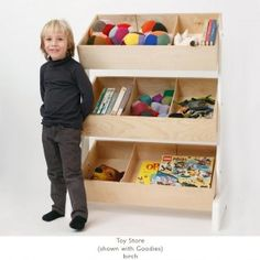 Oeuf NYC Toy Store in Birch - Buy full OEUF NYC Furniture range online at Nubie | Nubie - Modern Baby Boutique