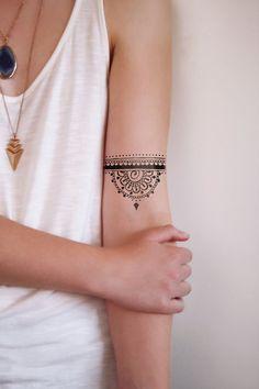 Mandala temporary tattoo / henna temporary tattoo / by Tattoorary