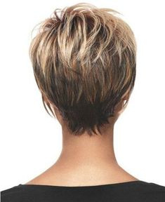 Hair Beauty - Women Blonde Ombre Inclined Bang Fluffy Short Straight European American Synthetic Wig - One Size Short Layered Haircuts, Short Hairstyles For Women, Hairstyles Haircuts, Wedge Hairstyles, Short Wedge Haircut, Stacked Hairstyles, Medium Thin Hairstyles, Short Hair Cuts For Fine Thin Hair, Short Hair For Women