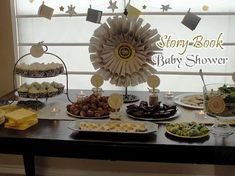 silver and yellow chevron theme baby shower | baby shower ideas home story book baby shower