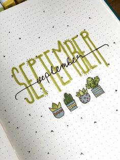 In the video of our Bullet Journal page design series, I designed July, August and September. Bullet Journal Lettering Ideas, Bullet Journal Cover Ideas, Bullet Journal Banner, Bullet Journal Notebook, Bullet Journal Themes, Bullet Journal Spread, Bullet Journal Inspiration, Bullet Journal Goals Page, Arc Notebook