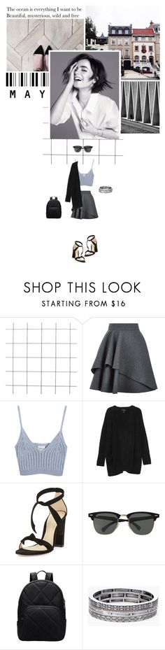 """""""The ocean is everything I want to be... Beautiful, mysterious, wild and free."""" by miky94 on Polyvore featuring moda, Alexander McQueen, Chicnova Fashion, Monki, Alexandre Birman, Ray-Ban e Chico's"""