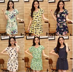 New Arrive New 2014 Summer Dresses Ten Kinds Of Styles Butterfly Print Chiffon Dress Cute Casual Dress Party Dresses $15.25