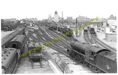 A photograph of the Great Northern Railway station at Lincoln Central. Lincoln England, Disused Stations, Steam Railway, Steam Engine, Model Trains, Locomotive, Engineering, Photograph, British