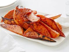 "Easiest Baked Sweet Potato ""Fries"" recipe!! Delicious too! ....another crowd pleaser from Ina Garten"