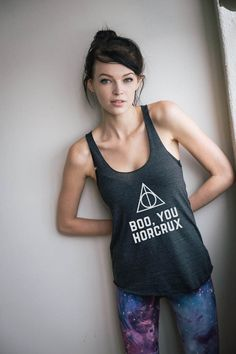 This Boo You Horcrux Harry Potter racerback tank is comfortable, form-fitting, and perfect for a casual, athletic look. ‰ۡó¢ Tri-Blend̴Ì_cotton ‰ۡó¢ Form-fitting ‰ۡó¢ Racerback ‰ۡó¢ Made in the USA, s