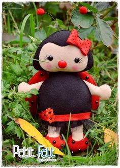 Felt lady bug - joaninha de feltro