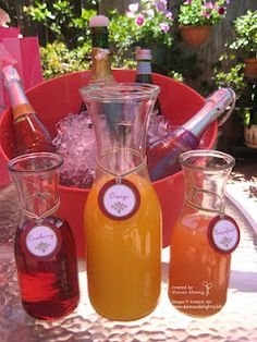 Champagne mimosa bar for a party