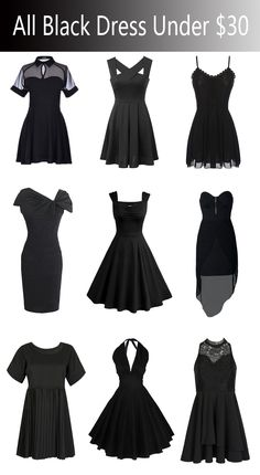 All the black dresses under $30 from Choies.com!like them or not? Never miss them!