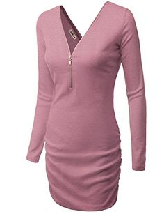 Doublju Womens Sexy Open Shoulder Slim Fit INDIPINK Dress...