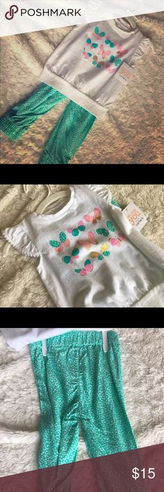 Carters Little Girl Spring Matching Set Little girls' matching set - pants and butterfly top. 12 mos NWT Carter's Matching Sets