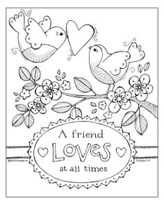A Friend Loves At All Times - Coloring Sheet