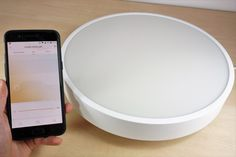 Best Smart Ceiling Light: Yeelight YLXD01YL Review - Maker Advisor #smarthome #homeautomation Home Automation Project, Open Source Hardware, Smart Home, Ceiling Lights, Smart House, Outdoor Ceiling Lights, Ceiling Fixtures, Ceiling Lighting