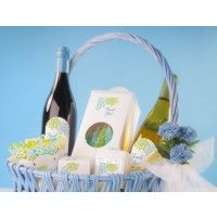 Create a special gift basket for out-of-town wedding guests.