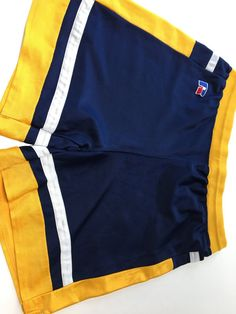 1970's RuSSeLL AtHLeTiC shoRts BasKeTBaLL gym PRePPy P.E. shoRts woRk-ouT BoxiNg fitNess aeRobics SoCCeR RuSSeLL LoGo SiDe VeNt ShoRts 39PZ7tK