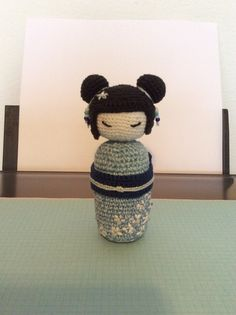 Amigurumi winter kokeshi