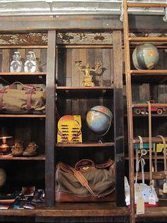 PALMER TRADING COMPANY Soho, Retail Image, Gift Shop Displays, Modern Man Cave, Paris Flea Markets, Men Closet, Map Globe, Door Numbers, Men Store