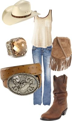 Cute country girl, country chic, western jeans, hats for women, clothes for Country Girl Outfits, Cute Country Girl, Looks Country, Country Wear, Country Fashion, Cowgirl Outfits, Cowgirl Style, Western Outfits, Western Wear