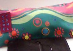 CLIPS STEFANEL bustina portacolori 1 zip s 90 fantasia verde con elefanti e fior