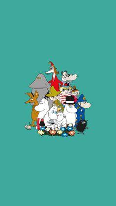 Moomin Wallpaper, Kawaii Wallpaper, Iphone Wallpaper, Tove Jansson, Les Moomins, Moomin Valley, Dope Cartoons, Cartoon Sketches, Character Wallpaper