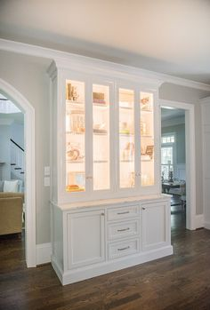 cabinetry with up lights for showing off display