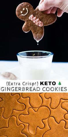 These are rather special Christmas cookies. You see, not much is lost (if at all) in these gluten free and keto gingerbread cookies! Cookies Gluten Free, Keto Cookies, Gluten Free Christmas Cookies, Almond Cookies, Chocolate Cookies, Low Carb Sweets, Low Carb Desserts, Cook Desserts, Paleo Sweets