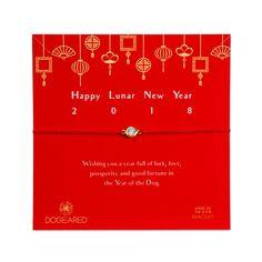 happy lunar new year bracelet, gold platedhappy lunar new year bracelet, gold plated