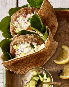 This fast dinner is flavour-full, healthy and fun to eat in a pita. Make sure you pile them with feta and tzatziki too!