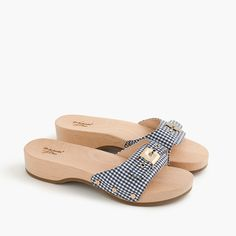 4a08d87d5296 Dr. Scholl s For Sandals In Gingham Clog Sandals
