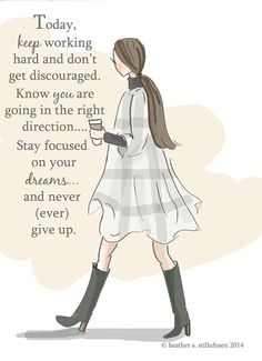 Keep Working Hard- Autumn - Art for Women - Quotes for Women - Art for Women…