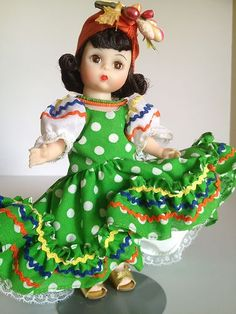 1970's Madame Alexander Vintage Doll Brazil Mint 573 Stand