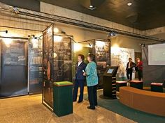 """The Ohio History Center is the headquarters of the Ohio History Connection and a museum showcasing Ohio's history from the ice age to today. These exhibits feature a variety of topics including the Civil War, natural history, glass, pottery and interactive children activities. Schedule """"experiential tours"""" by appointment at 614-297-2477."""