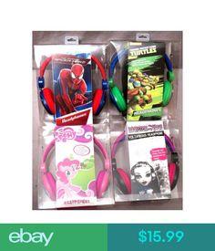 Headphones My Little Pony Spider Man Monster High Teenage Mutant Ninja Turtles Headphones #ebay #Electronics