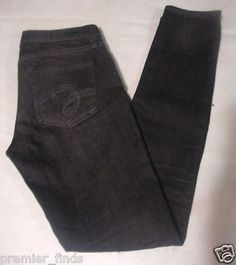 See Thru Soul MOST WANTED Skinny Jeans Low Rise Stretch Slim Grey Black Size 26  $15