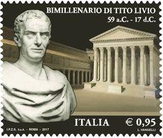 Francobollo commemorativo di Tito Livio, nel bimillenario della scomparsa