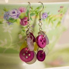 button earrings - diy