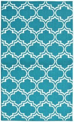 Amazon.com - Garland Rug Silhouette Area Rug, 5 by 7-Feet, Teal/White -