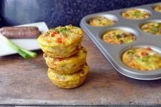 Sausage and Egg Muffin. Sausage and Egg Muffin is a great on-the-run breakfast! Make these up ahead of time and just reheat and eat! Sausage Muffins, Sausage And Egg, Sausage Breakfast, Breakfast Dishes, Breakfast Recipes, Eat Breakfast, Breakfast Ideas, Muffin Recipes, Egg Recipes