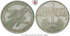 RITTER BRD, 5 DM 1952 D, Germanisches Museum, J. 388 #coins #numismatics